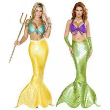 Mermaid Costume Adult Sexy Siren Halloween Fancy Dress