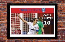 Women's World Cup Soccer | Carli Lloyd Poster | 13 x 19 inches