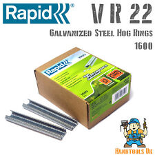 Rapid VR22 Galvanized Hog Rings for FP20 / FP222 Fence Pliers 1600 Pack Bulk Box