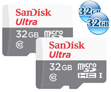 LOT of 2 32GB = 64GB SANDISK ULTRA* 32G micro SDHC micro SD CLASS10 Card 48MB/s*