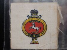 THE KINGS - Regimental Crests & Badges (Silk) R.J.Leas 1923