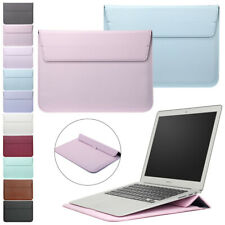 """For MacBook Air 11"""" 13 Pro 15"""" Retina Leather Laptop Sleeve Bag Pouch Case Cover"""