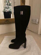 AUTHENTIC Gucci Knee High Block Heel Black Boots UK 2.5 EU 35.5 RRP £770