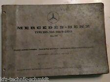 Mercedes Benz 115 Chasis & Montaje Lista de repuestos 200, 220, 200D, 220D