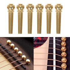 6pcs Acoustic Guitar String Bridge Pins Solid Copper Brass End Pegs Replacement