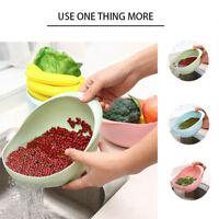 Kunststoff Reis Reis Waschfilter Schmutzfänger Sieb Abtropffläche Reinigung GXUI
