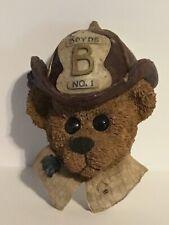 Boyds Bears & Friends Firemen Elliot the Hero Wall Plaque #654281 Nos