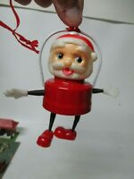 Vintage Christmas Celluloid SANTA CLAUS w ARMS & LEGS Battery Operated Lantern