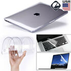 "Glossy Clear Hard Shell Case+Keyboard Cover For 2020 MacBook Air Pro 13"" M1 15"""