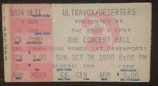 Ultravox-Concert Ticket Stub-Nov. 20, 1979-Toronto-The Edge-Midge Ure