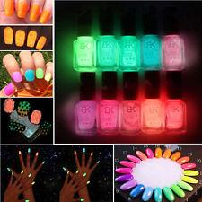 Gel Nail Art Polish Candy Colors Fluorescent Neon Makeup Luminous Varnish