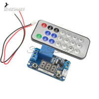 5 12V Infrared Remote Control IR Controller Timer Delay Relay LED Display Module