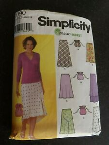 SIMPLICITY 7090 SKIRTS 4-10 SEWING PATTERN  cut to largest size