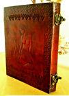 Christmas Gift Handmade Leather Journal Mermaid Diary Notebook Sketchbook 9x7