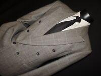 Vintage Double Breasted men's Glen plaid jacket coat size 40 Regular