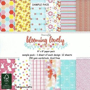 DOVECRAFT BACK TO BASICS BLOOMING LOVELY 8 X 8 SAMPLE PACK - POSTAGE DEAL