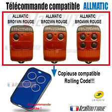 Télécommande COMPATIBLE ALLMATIC BROWN ROUGE PORTAIL GARAGE BROW2N BRO4WN  COPIE