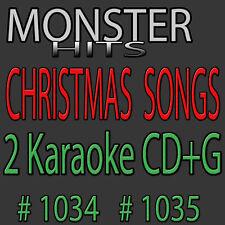 Monster Hits Karaoke 2 CD+G Christmas Songs1034+1035/White Christmas,Silver Bell