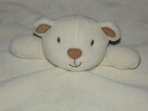 BHS CREAM BEAR COMFORTER SOFT TOY TEDDY BLANKIE DOUDOU