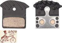 SHIMANO J04C METAL DISC BRAKE PADS W/ FIN--SPRING XTR M9020 M985, XT M8000, SLX