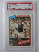 1980 Topps New York Yankees #16 JERRY NARRON PSA 9 Mint Baseball Card