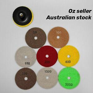 4'' Wet Dry Diamond Polishing Pad Grinding Discs for Concrete Granite Marble