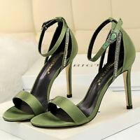 Women Strappy Sandals Open Toe High Heels Stilettos Evening Party Pumps Shoes