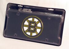 Boston Bruins NHL Logo Mirror Look LASER License Plate