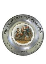 """The Great American Revolution """"The Spirit of '76"""" 1776 Pewter Plate Canton, Ohio"""