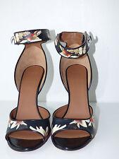 Sandales imprimées à fleurs en cuir multicolore Givenchy