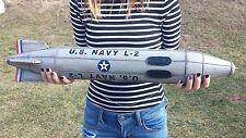 VINTAGE RARE TIN TOY U.S. NAVY L-2  MISSILE ROCKET SPACESHIP AIRSHIP ZEPPELIN