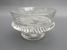 "EAPG Antique glass compote, KING & SON #27 1888 ""Noonday Sun""or Sawtooth bottom"