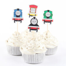 12 x Thomas The Tank Cake Picks Cupcake Toppers Flags Kids Birthday Party