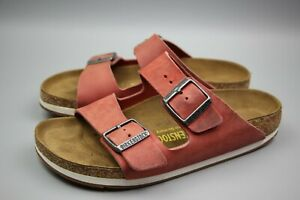 BIRKENSTOCK Arizona Two Strap Buckle Coral Sandals Womens Shoes L8 M6 Size 39