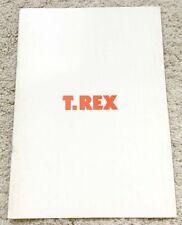 T.REX Marc Bolan Japan Tour 72 Concert Program Book