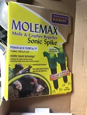 (4) Molemax Sonic Spike Mole And Gopher Repeller Bonide