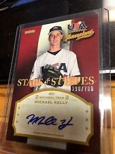 2013 USA STAR & STRIPES # MIC MICHAEL KELLY AUTO #390/700  MINT FROM PACK