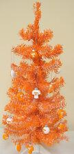 Tennessee Volunteers 2FT Christmas Tree W/12 Assorted Football Ornaments UT Vols