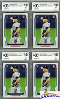 (4) 2014 Bowman #88 Masahiro Tanaka ROOKIE BECKETT 10 MINT Yankees 175 Million!