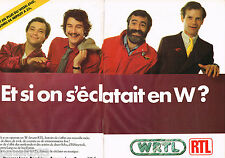 PUBLICITE ADVERTISING 065  1980  RTL radio W  SCHU HEBEY FERRAN ( 2p)
