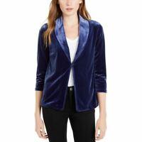 MAISON JULES NEW Women's 3/4-sleeve Velvet Unlined Blazer Jacket Top TEDO