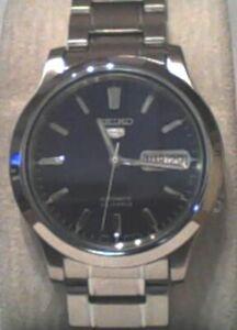 Seiko Men's SNK793 Seiko 5 Automatic Blue Dial Stainless-Steel Watch $295