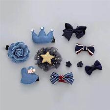 10pcs/lot Kids Baby Girls dot flowers hair clips Children hairpins accessories