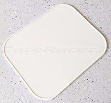 "White 12"" X 10"" Rectangular Number Plate Vintage MX Road Race AMA AHRMA Racing"