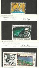 Cameroun, Postage Stamp, #C286, C291, C295-6 Used, 1979-81 Space, Art