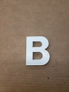 """Vintage Cast Aluminum Letter """" B """", 4 """" Tall, 3"""" Wide, 1/2"""" Thick. !!!!!!!!!"""