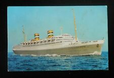 1971 SS Nieuw Amsterdam Ocean Liner Holland-America Line Postcard