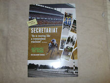 """2 MINT SECRETARIAT POSTERS PENNY CHENERY 1973 BELMONT STAKES PHOTOS 17"""" by 11"""""""