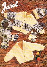 Vintage Aran Knitting Pattern, 8 sizes, 16 - 30 inch chest, 2 version cardigans