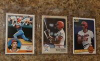 (3) Gary Gaetti 1983 Topps Fleer Donruss Rookie Card Lot Twins RC